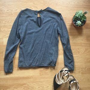 Cynthia Rowley 100% merino wool sweater with bow
